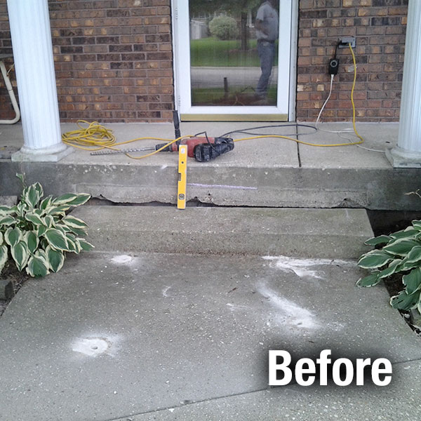 Akron/Canton Concrete Step Repair - Before