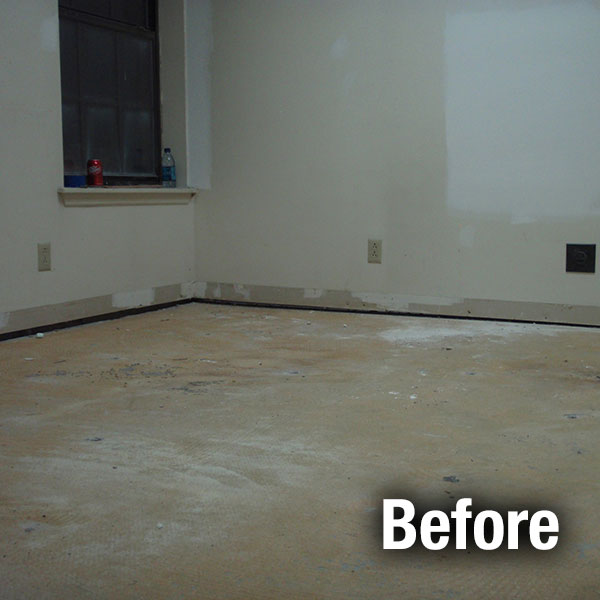 Akron/Canton​ Concrete Floor Leveling - Before