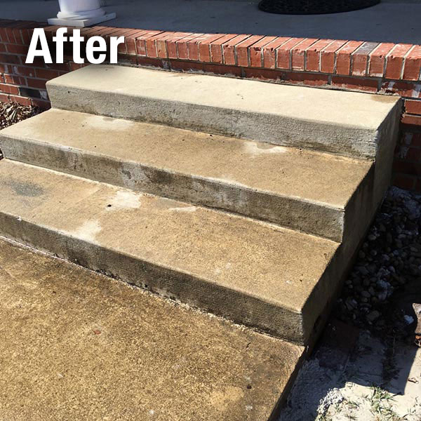 Akron/Canton​ Concrete Steps Leveling - After