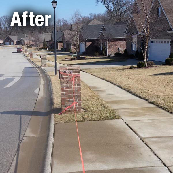 Cleveland—East Brick Mailbox Leveling - After